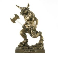 Minotaur Greek Mythology With Labrys Statue Bronze Tone Alabaster 8'