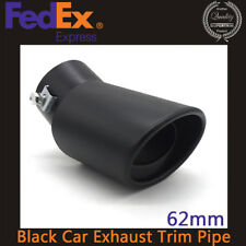 Black Car Exhaust Pipe 62MM Car Exhaust Pipe Tip Tail Muffler Cover Tail Throat