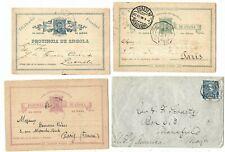 G151 Portugal Africa Angola rare set bilhete postalcard stationery ps  pharmacy