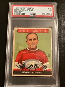 1933 Goudey Sport Kings Howie Morenz #24 PSA 1