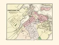 Portsmouth New Hampshire - Comstock 1877 - 23.00 x 30.03