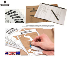 Travelogue Journal Scratch Map Deluxe Travel Tips Book World Atlas Gift