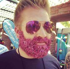 10 POTS OF BEARD GLITTER MENS FESTIVAL SPARKLY RAINBOW FACE BODY UNICORN MERMAID