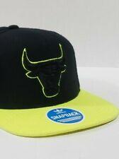 Chicago Bulls adidas Originals Trefoil Black and Neon Green Snapback Hat *NEW!*