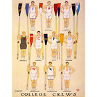 PAINTINGS DRAWING SPORT ROWING COLLEGE CREW AMERICAN UNIVERSITY USA NEW FINE ART