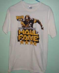 Steelers Bettis The Bus' Last Stop in Canton Hall of Fame 2015 Medium Tee #36
