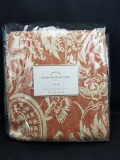 """Pottery Barn Alessandra Floral Blackout Lined Drape Terracotta Red 84"""" #2777"""