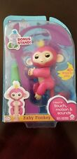FINGERLINGS BABY FINGER MONKEY PINK BELLA WITH BONUS STAND RARE.. FREE SHIPPING