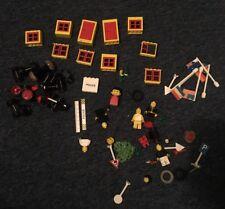 VINTAGE LEGO porte/finestre/Ruote/FLAG/Figure Rosso/Giallo/Nero