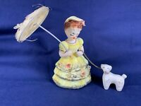 Vintage Ceramic Japan Little Bo Peep Nursery Rhyme 1950s Chain Lamb Parasol A408