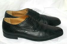 Zelli mens Ostrich Black Oxford men's  shoes sz 13M Handmade in Italy