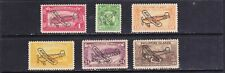 Philippines 1933 AIRMAIL, airplane overprint in Black 6 values mint