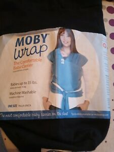 moby baby wrap sling in black