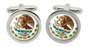 Mexico Round Cufflinks in Box