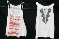 2 Sheer White w/ Tribal Tank Tops Hollister w/ Pink Sun & Shadow w/ Black Size M