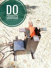 Rocket Stove Steel WOOD  CAMPING SURVIVAL cooking portable  *NO reserve price!!*