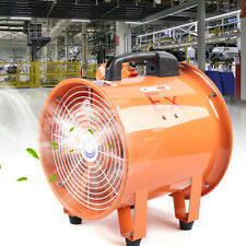 Explosion Proof 10 Axial Fan Cylinder Pipe Spray Booth Paint Fumes Exhaust Fan
