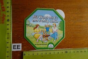Alter Aufkleber Landwirtschaft Metzgerei Wurst CMA Essen aus Deutschland