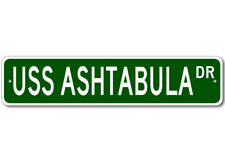 USS ASHTABULA AO 51 Ship Navy Sailor Metal Street Sign - Aluminum