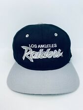Vtg Replica Bootleg LA Los Angeles Raiders Script Hat Snapback Black NWA EAZY E