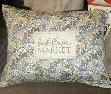 Country Primitive Floral Pillow Sofa Cushion Home Decor Spring Fresh Flowers