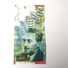 New listing Israel 20 new sheqalim 2008 Moshe Sharett Banknote Paper Currency