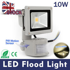 PIR LED10W Flood Light Sensor Outdoor Garden Security Spotlight Warm White Light