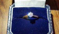 VS2/D 0.41ct Diamond on 18ct gold ring (size O/7)