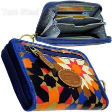 FOSSIL Damen-Geldbörse Geldbeutel Brieftasche klein Portmonee Portemonnaie blau