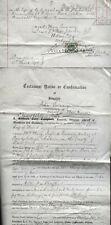 1897 DUMFRIES-JOHN QUINNY-Gamekeeper, Closeburn-document + 1/- Dull green SG 196