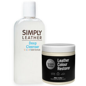 LT CREAM Leather Cleaner & Colour Restorer Repair Kit for Sofa Chair Bags Shoes