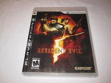 Resident Evil 5 (Playstation PS3) Original Release Game Complete Excellent!