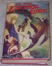 AT THE EARTH'S CORE Edgar Rice Burroughs (Tarzan) G&D partial original dust jack