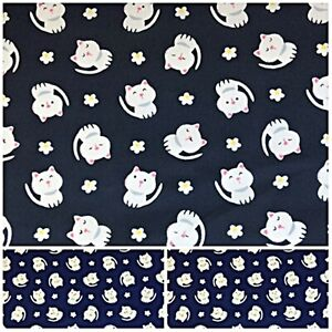 Polycotton Fabric Crafts KITTEN CAT Metre Material Special Offer