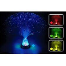 Calming Autism Sensory LED Multicolour Lamp Fibre Optic Ice Relax Changing Light