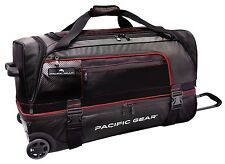 "Pacific Gear Drop Zone Black 30"" Large Drop Bottom Wheeled Duffel Bag Roller"