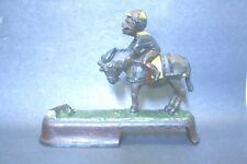 Antique Jockey Over Mule Always Did  Spise A Mule Cast Iron Mechanical Bank NR
