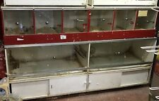 Rabbit Hamster Display Housing Units Cage Hutch Glass Sliding Doors And Locks