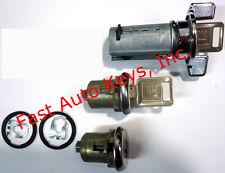 New CHEVROLET Ignition & Door Lock Key Cylinder Set 2 Keys - Same Day Shipping