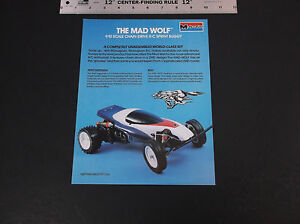 VINTAGE 1986 MONOGRAM MODELS MAD WOLF 1:10 SCALE  R/C BUGGY BROCHURE *VG-COND*