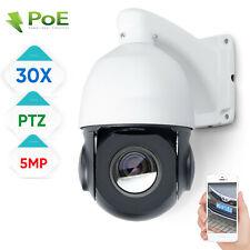 "4.0"" 30X Zoom 5.0MP PTZ POE IP Security Camera Outdoor Speed Dome CCTV IR ONVIF"