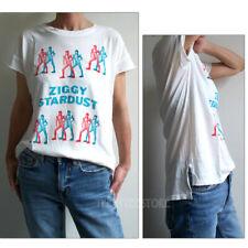 Junk Food David Bowie Ziggy Side Slit Back Seam Loose Fits Soft Tissue T-shirt