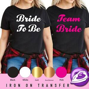 Wedding Night Bride To Be Hen Do Party Iron On Transfer T Shirt Your Text Vinyl