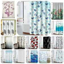 Waterproof Polyester Bathroom Shower Shower Curtain Printed Fabric With 12 Hook