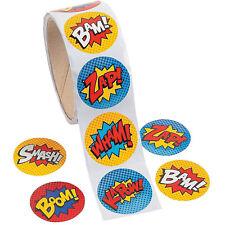 100 Superhero Stickers | Superhero Party | Party Bag Fillers | Superhero Crafts