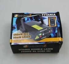 BEAMZ TITANIA DOUBLE LASER 200MW RED GREEN LAZER WITH REMOTE BOXED