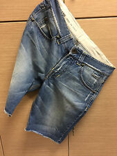 An authentic men's RA_RE pair of jean shorts washed used distressed look,sz:34.