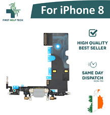 "For iPhone 8 4.7"" Genuine USB Charging Port Dock Lightning Connector Flex White"
