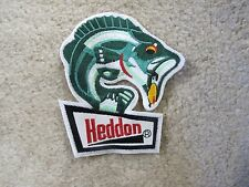 VINTAGE HEDDON FISHING EMBROIDERY PATCH