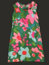 New listing Colorful Floral Dress Vintage 70's - selling it as a piece of cloth, size 5 or 6
